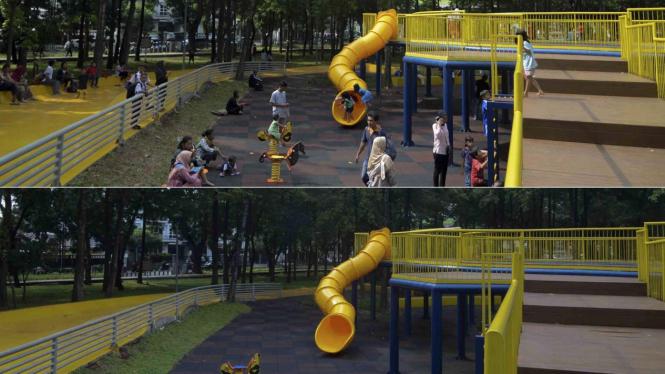 Wabah Corona Hilangkan Kecerian di Taman Puring