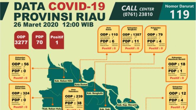 Data COVID-19 Provinsi Riau