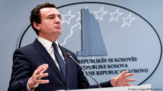 Perdana Menteri Albin Kurti tumbang