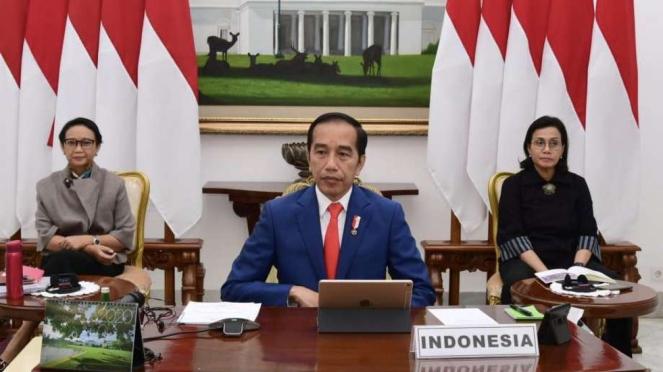 Presiden Jokowi mengikuti KTT Luar Biasa Virtual G20 soal pandemi corona