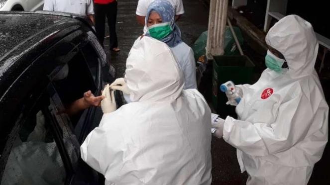 Rapid test virus corona di Kota Bogor
