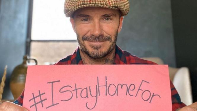 Kampanye David Beckham dukung aksi tinggal di rumah saja