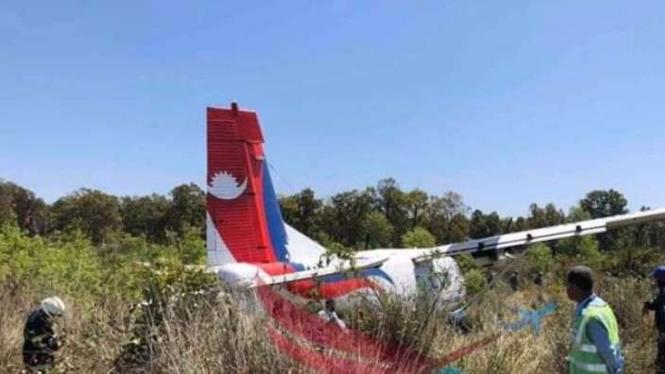 Pesawat kecelakaan.