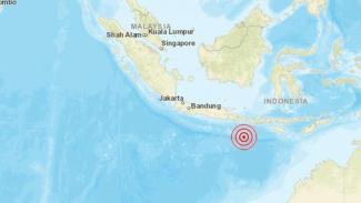 Peta lokasi gempa Kuta, Bali.
