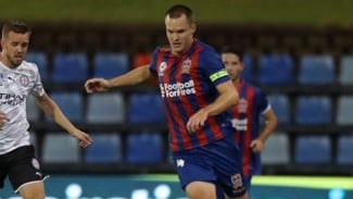 Pertandingan Newcastle Jets di A-League.