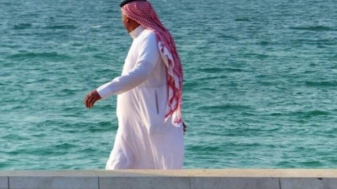 Ilustrasi pria Arab Saudi.