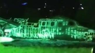 Kondisi Pesawat Lion Air yang jatuh di NAIA Manila.