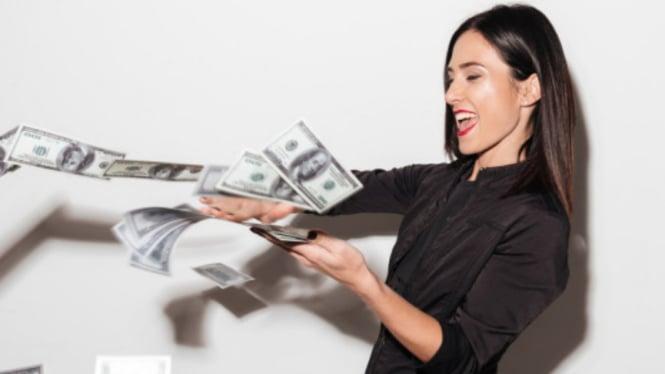 Ilustrasi wanita sukses/kaya.