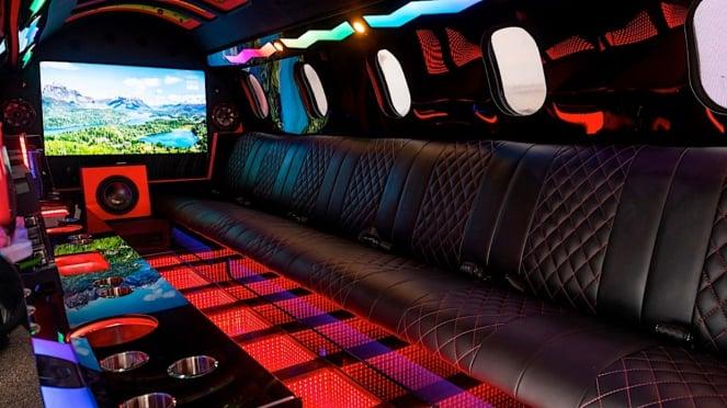 Interior Learmousine.