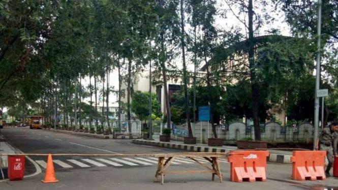 Penutupan akses masuk ke wilayah Kota Tangerang.