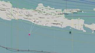 Peta lokasi gempa Bantul.