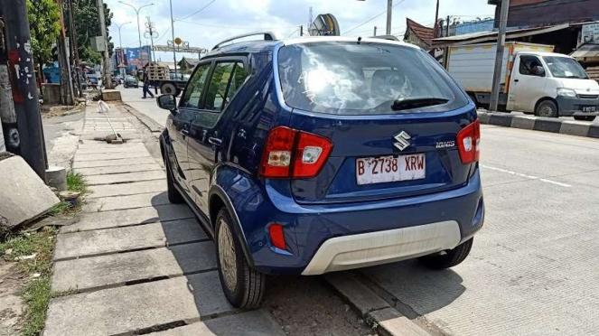 Tampilan belakang Suzuki Ignis Facelift