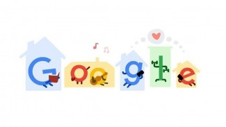 Google Doodle Work from Home.