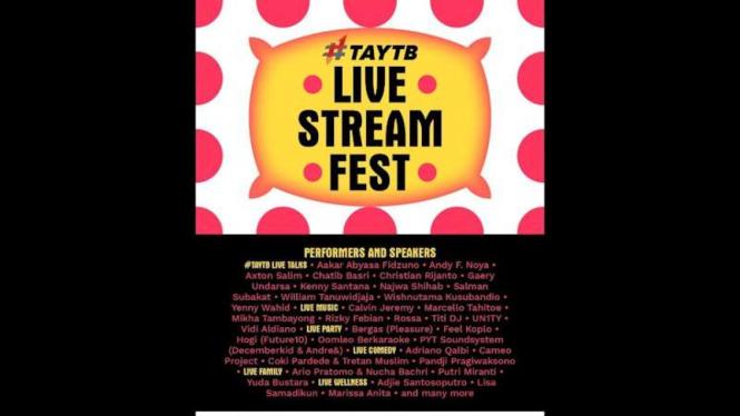 #TAYTB Live Stream Fest.