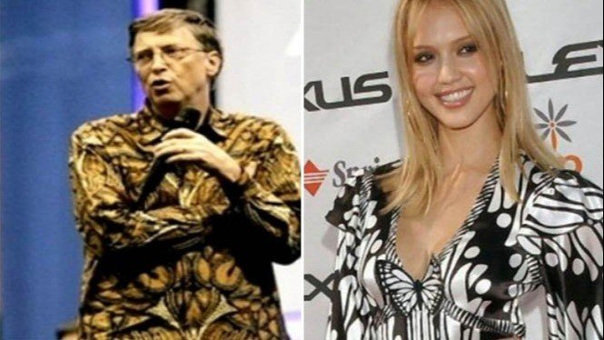 Bill Gates dan Jessica Alba