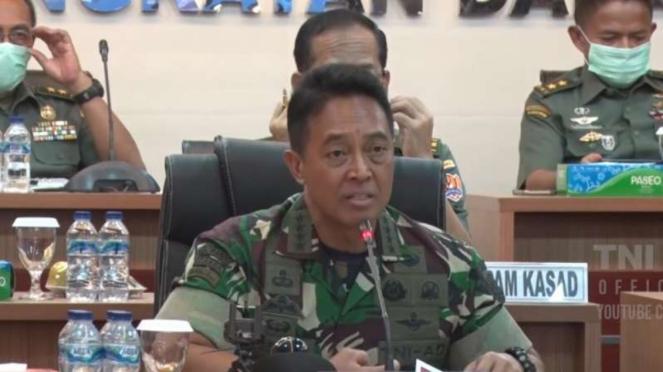 VIVA Militer: Jenderal Andika Perkasa pimpin rapat.