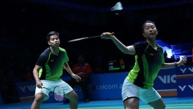 Ganda campuran Malaysia/Indonesia, Mohammad Arif Abdul Latif/Rusydina Antardayu.
