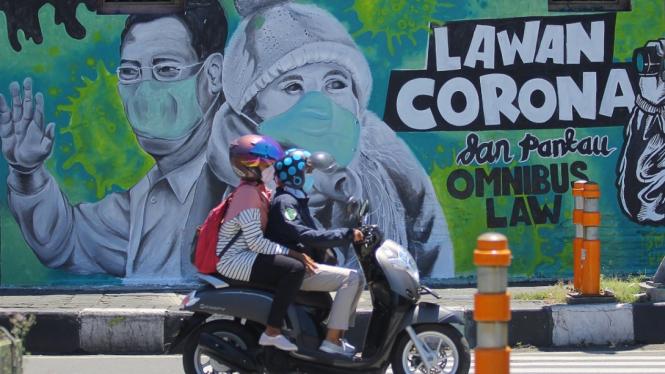 Kita Bisa, Deretan Mural Lawan Virus Corona
