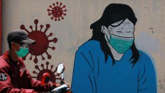 Mural Lawan Virus Corona