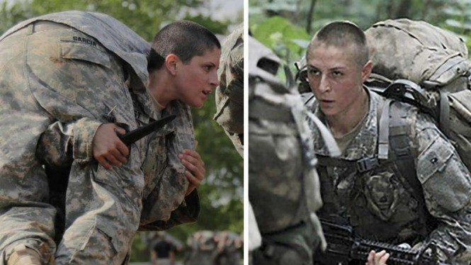 VIVA Militer: Kristen Griest (kiri) dan Shaye Haver (kanan)