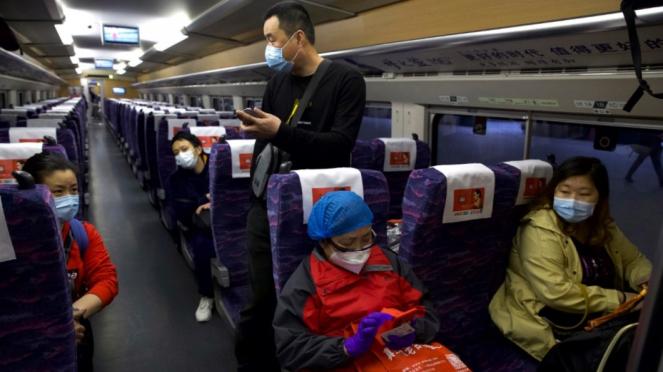 Pemandangan Kota Wuhan Paska pencabutan status lockdown