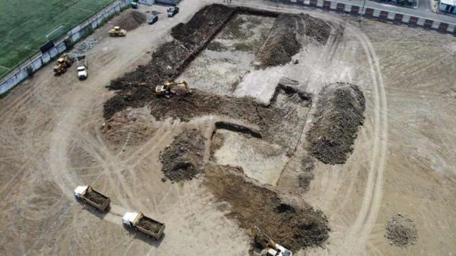 Lokasi pemakaman jenazah korban corona di Kota Guayaquil