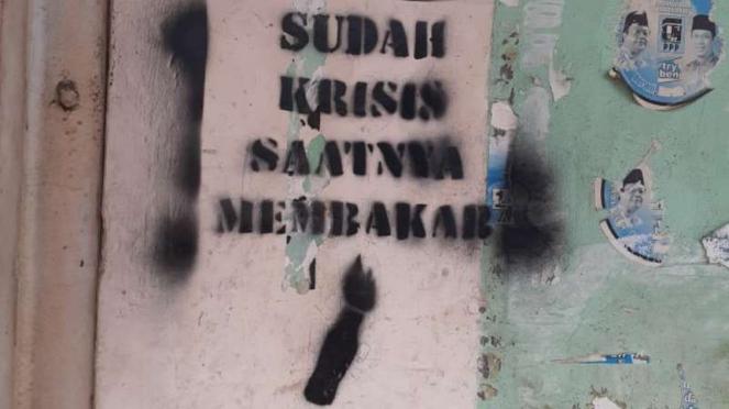 Aksi vandalisme di Kota Tangerang di tengah pandemi Covid-19.