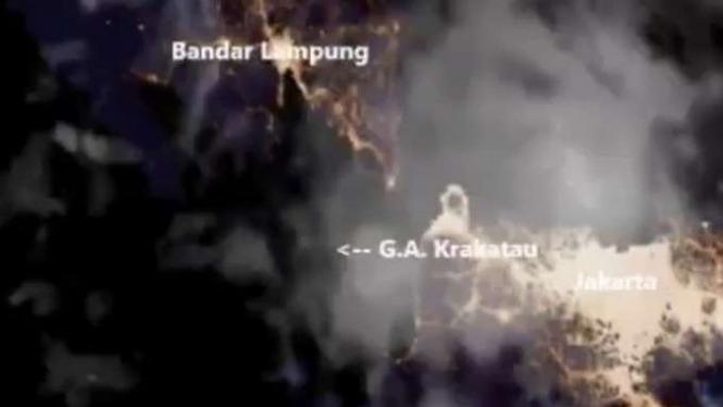 Gunung Krakatau meletus dari satelit LAPAN.