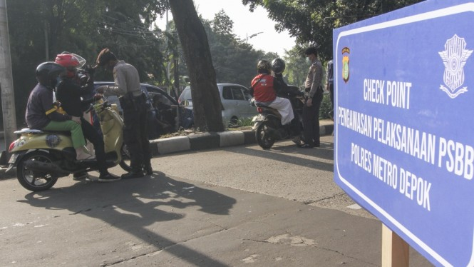 Penerapan PSBB di Bekasi, Bogor dan Depok.