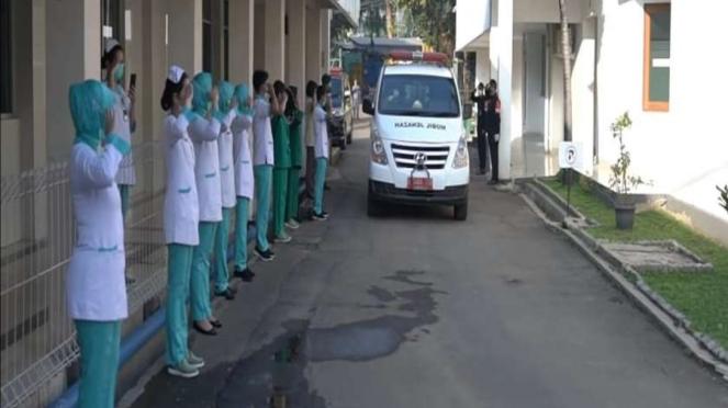 Pelepasan perawat di RSPAD Gatot Subroto yang meninggal akibat Covid-19