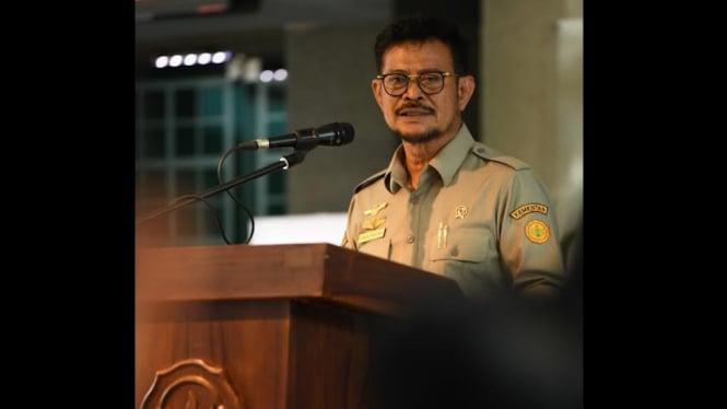 Menteri Pertanian Syahrul Yasin Limpo.