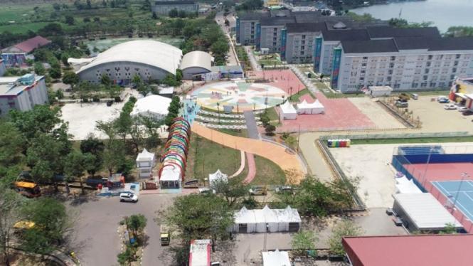 Wisma Atlet di Kompleks Jakabaring Sport City (JSC) Palembang