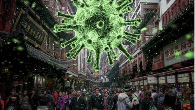 ilustrasi ancaman Virus Corona COVID-19.
