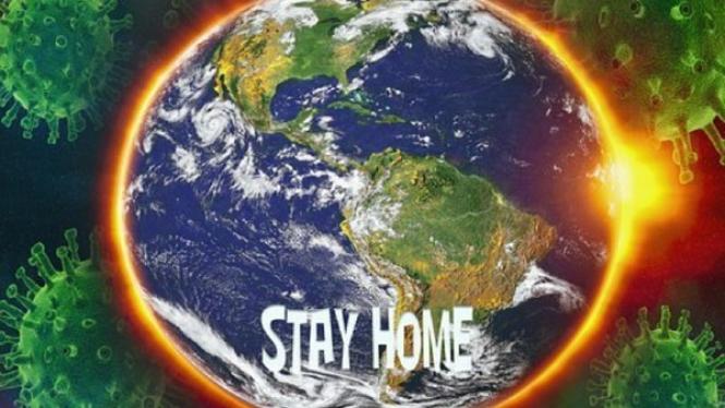 Virus corona dan ajakan tetap di rumah