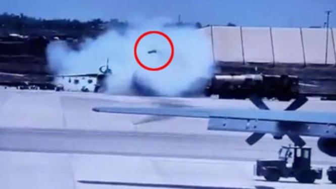 VIVA Militer: Roket Sukhoi yang terbang sendiri di pangkalan militer Chad.