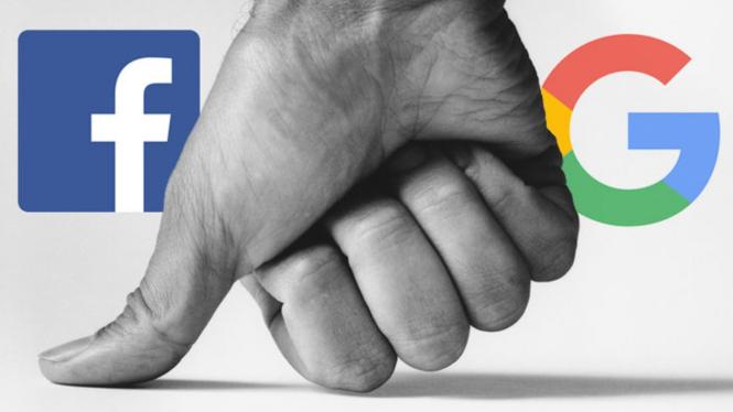 Facebook dan Google.