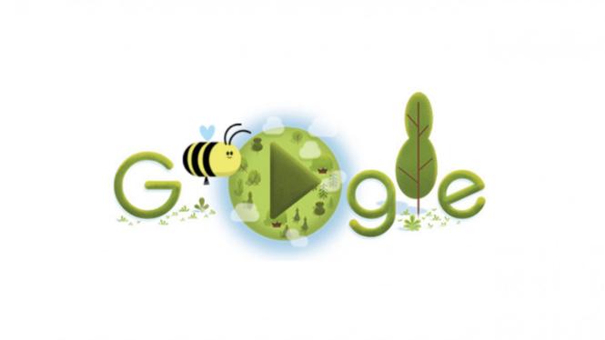 Google Doodle lebah