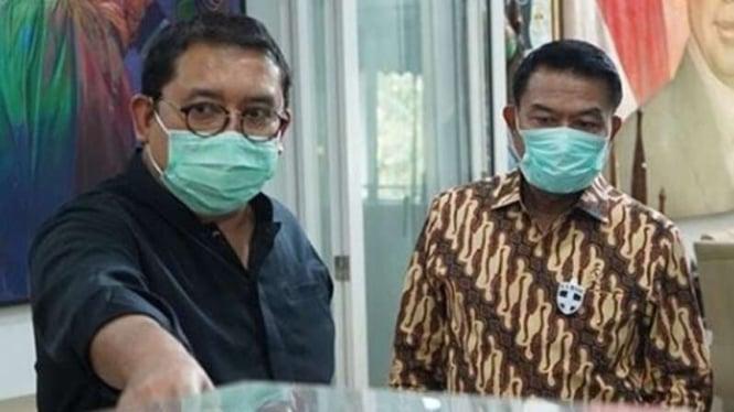 Politisi Gerinda, Fadli Zon dan Kepala Staf Kepresidenan, Moeldoko.