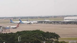 Penampakan bandara Soekarno-Hatta saat Pandemi Corona.