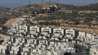 Ilustrasi Pemukiman Israel, Givat Zeev, di dekat kota Ramallah, Palestina, di Tepi Barat.