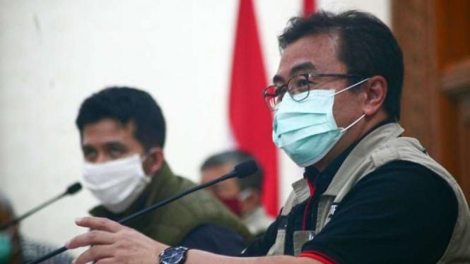 Ketua Rumpun Kuratif Gugus Tugas Covid-19 Jawa Timur Joni Wahyuadi.