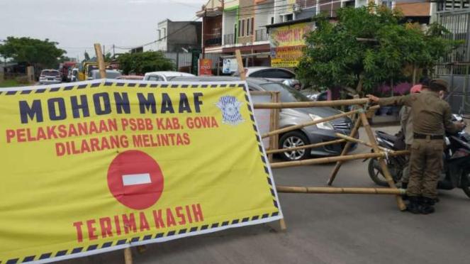 Penerapan PSBB di Kabupaten Gowa, Sulsel.