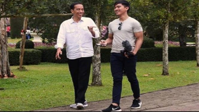 Jokowi dan Kaesang Pangarep (Foto/Instagram/Kaesang)