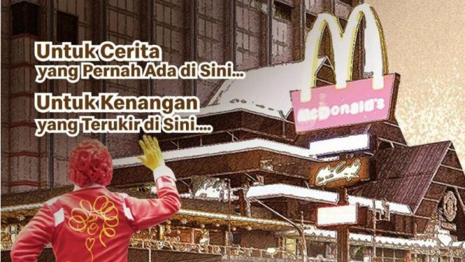 McDonald Sarinah akan tutup permanen pada Minggu, 10 Mei 2020 pukul 22.05 WIB