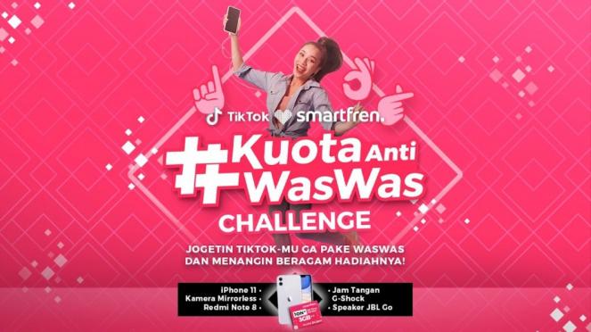 TikTok Challenge #KuotaAntiWasWas dari Smartfren.