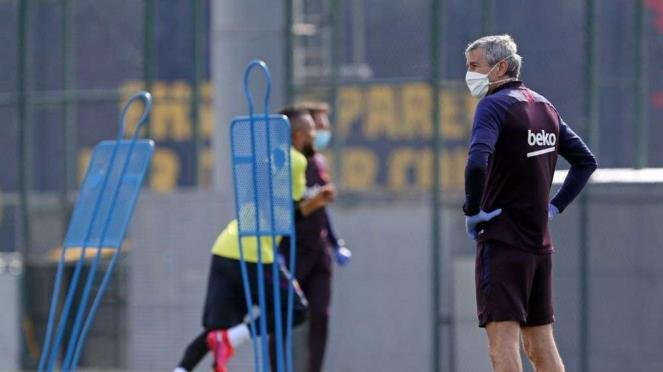 Barcelona akhirnya kembali gelar latihan