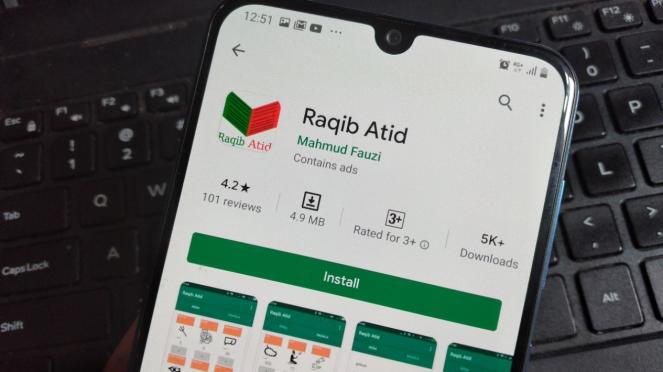 Aplikasi Raqib Atid.