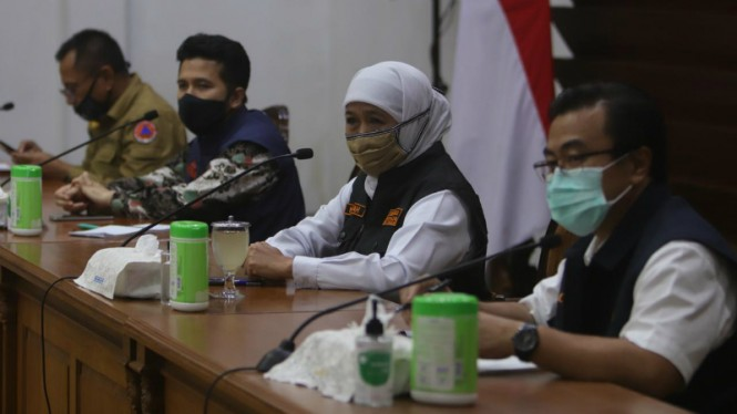 Gubernur Jatim Khofifah Indar Parawansa dan Wagub Jatim,Emil Elistianto Dardak