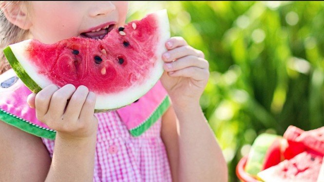 Ilustrasi buah semangka yang manis