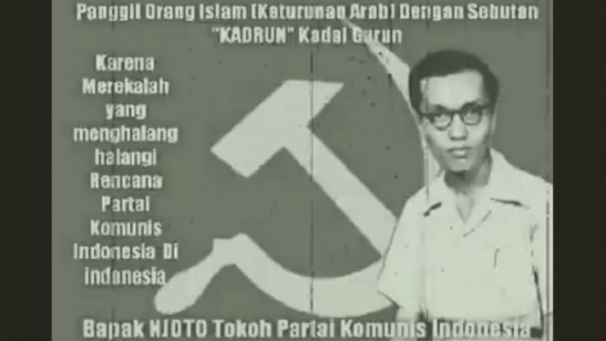 Panggilan Kadrun yang didengungkan tokoh Partai Komunis Indonesia (PKI), Njoto.